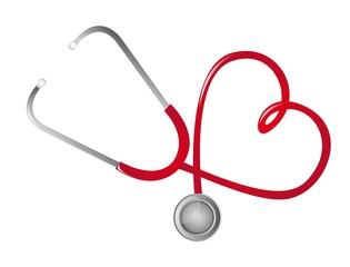 red stethoscope