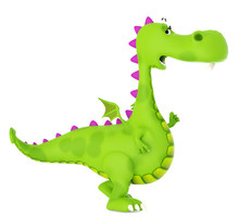 Green Dino Dragon Baby Walking...