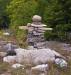 Canadian symbol Inukshuk made from stones