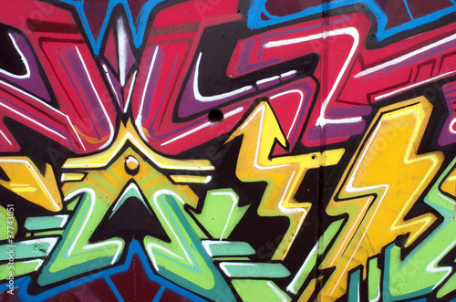 Detalle graffiti flecha. Arte urbano