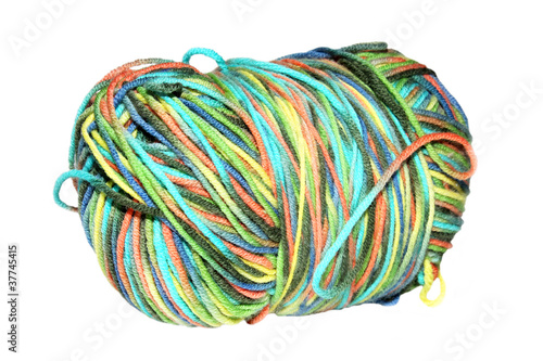 Photo  Skein of yarn color.