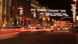 Fires of cars at a crossroads ночью.Timelapse