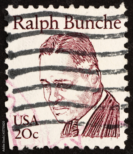 Photo  Postage stamp USA 1983 Ralph Bunche