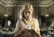 Leinwanddruck Bild blond sensual woman with a coffee cup
