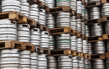 Kegs Of Beer In Regular Rows