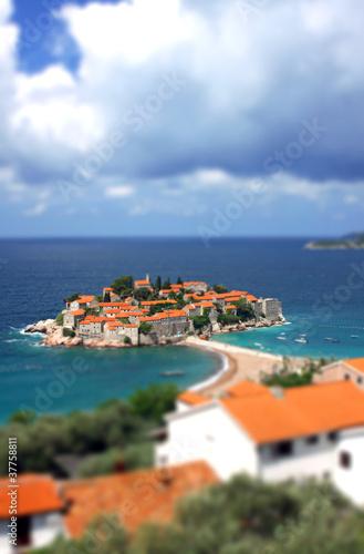 Sveti Stefan island in Adriatic sea, Montenegro