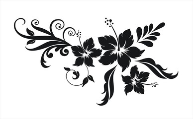 Hibiskus Blumenornament