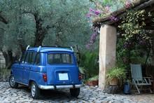 Vintage Blue Renault
