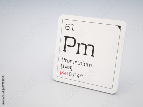 Poster  Promethium - element of the periodic table