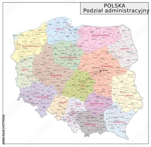 Fototapeta Polen Administrativ obraz