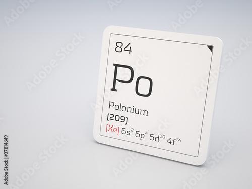 Photo  Polonium - element of the periodic table
