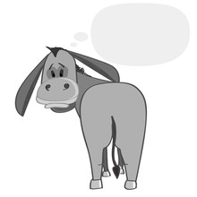Donkey With Speech Cloud