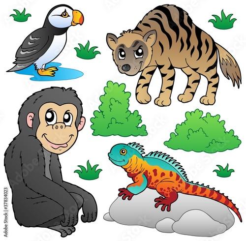 Poster de jardin Zoo Zoo animals set 2