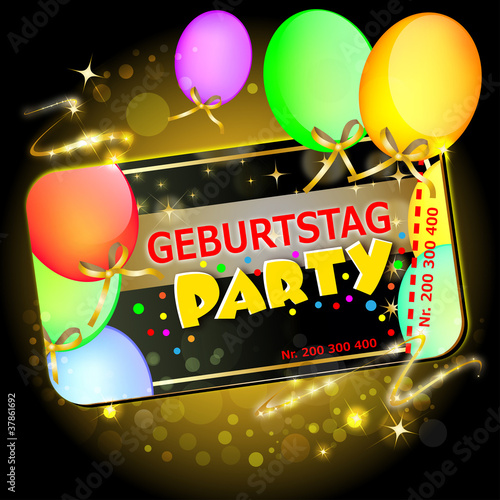 Geburtstag Party Buy This Stock Vector And Explore Similar Vectors