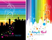 City Skyline Color Vector