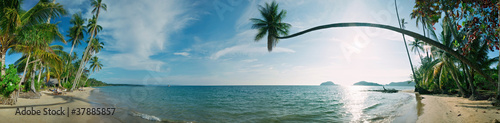 Poster Tropical plage Tropical beach panorama