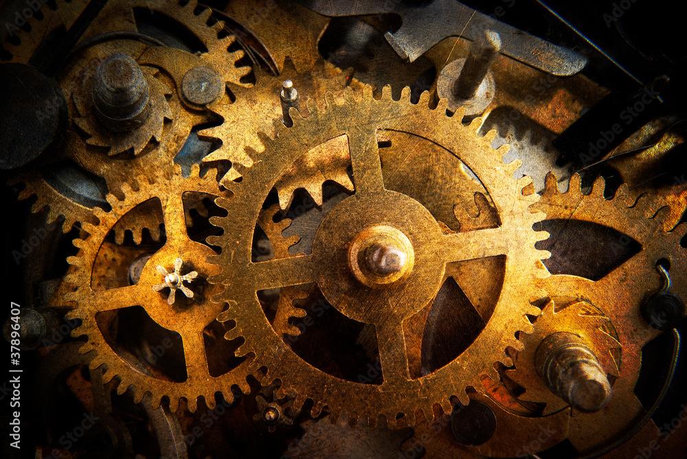 Fototapeta ingranaggi orologio - texture