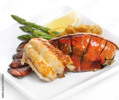 Poster Coquillage Grilled Lobster Tail