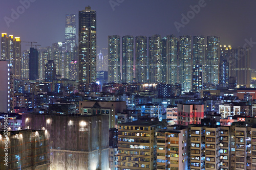 Fototapety, obrazy: apartment buildings at night