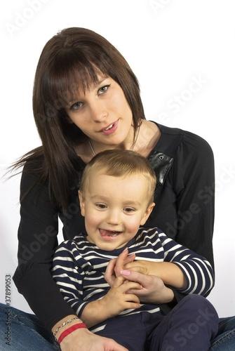 Fotografie, Obraz  famille-mère et enfant