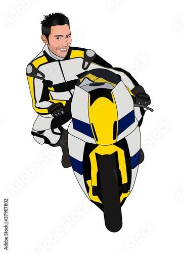 Poster Motocyclette Moto da corsa vettoriale