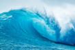 canvas print picture - Beautiful Blue Ocean Wave
