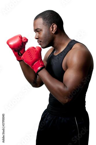 Photo  Black Man Boxer