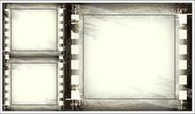 Set Of Old Blank Film Strip
