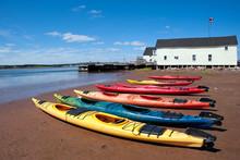 Colorful Kayaks On The Prince ...