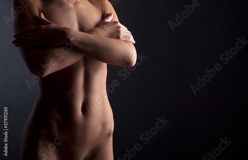 Beautiful naked female body