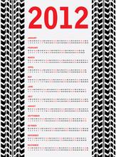 2012 Calendar With Special Black Tire Design