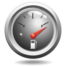 Spia Indicatore Benzina Pieno-Full Fuel Petrol Gauge-Vector