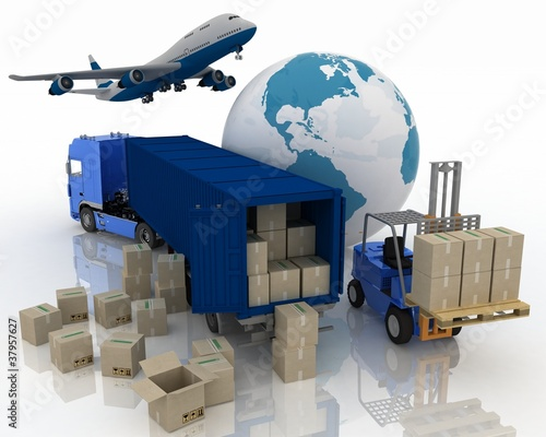 Fotografía  types of transport of transporting are loads.