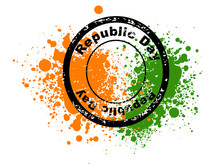 A Vector Illustration Of Rubber Stamps Having Republic Day Text