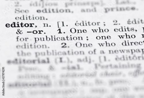 Editor Definition in English Dictionary. Wallpaper Mural