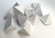 3D pyramids abstract