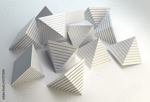 Fototapety, obrazy: 3D pyramids abstract