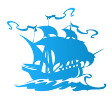 Sail Ship Or Pirate Ship Logo