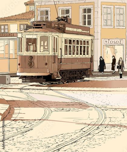stary-tramwaj-w-portugalii