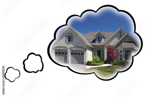 Vászonkép Dream House Concept