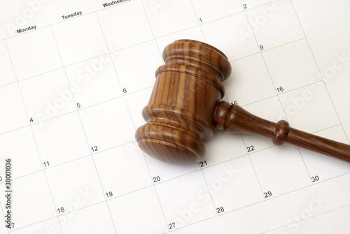 Fotografie, Tablou  Gavel and Calendar