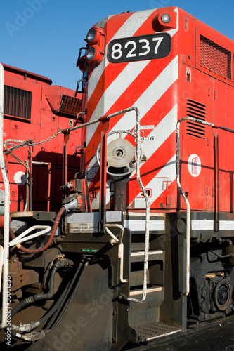 Платно Detail of a front heavy diesel north American locomotive
