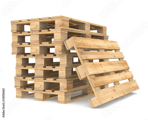 Stampa su Tela Pile of Pallets