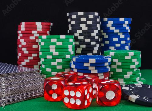 Casino chips. Photo gambling плакат