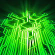canvas print picture - circuit board ,technology background