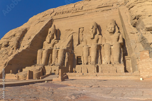 In de dag Egypte Abu Simbel Temple of King Ramses II (Egypt )