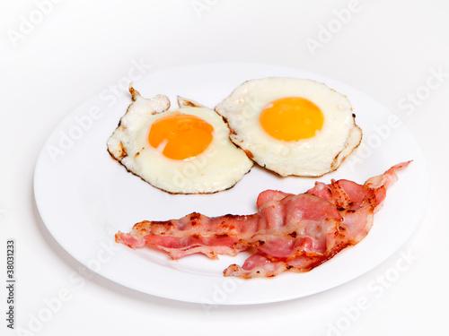Foto op Plexiglas Gebakken Eieren Spiegelei mit Bacon