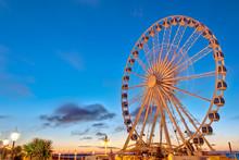 Big Ferris Wheel In Brighton,England