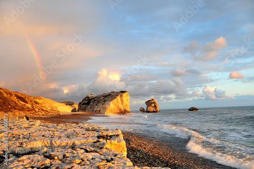 Foto-Schiebegardine Komplettsystem - Rock of Aphrodite