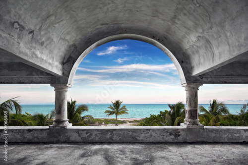 Canvas Print Ocean Front Mansion